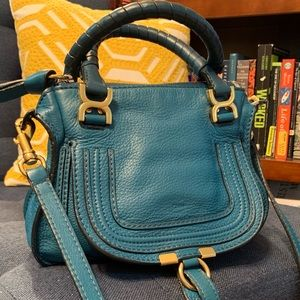Chloe Small Marcie in Peacock Blue